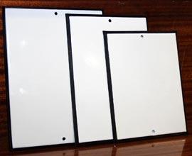 Размеры табличек