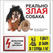 Таблички осторожно злая собака и другие